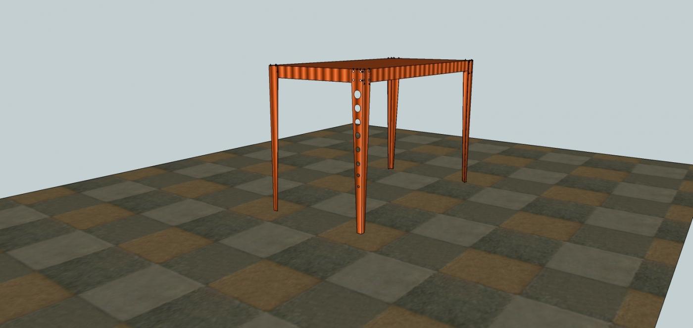Dessin orient e 3d soudure atypique for Table 3d dessin