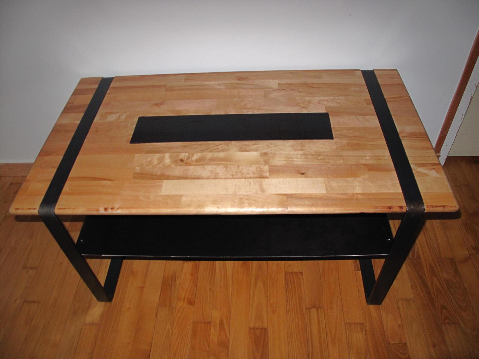 table basse design bois et m tal soudure atypique. Black Bedroom Furniture Sets. Home Design Ideas